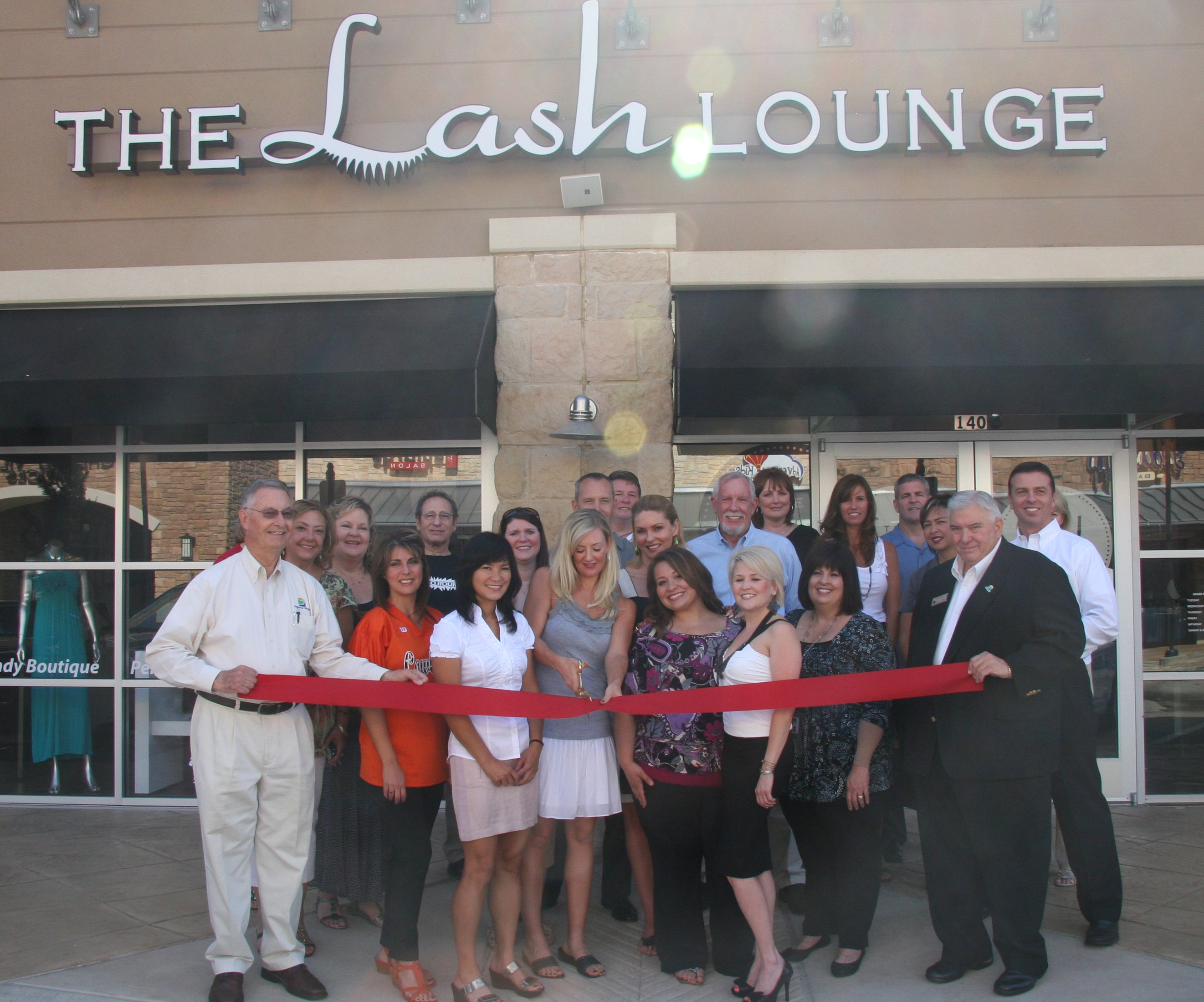 ribbon cutting - The Lash Lounge